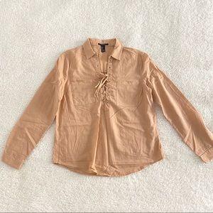 💚 F21 Light Brown Shirt
